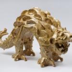 Guardián. Ceramica esmaltada. (vista2) 25 cm. x 45 cm. x 19 cm